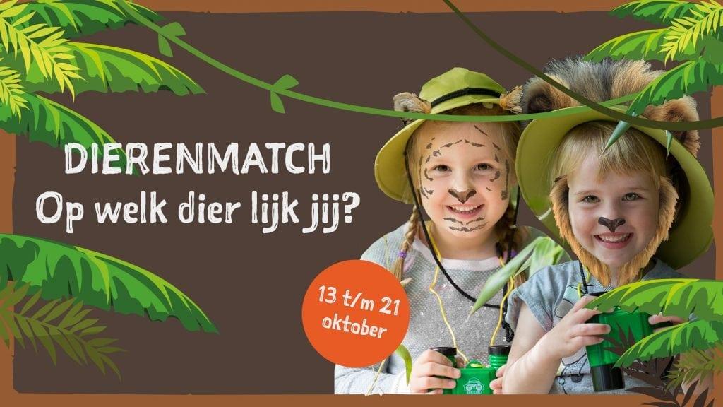 Kom in de herfstvakantie naar Dierenmatch in ZooParc en ontdek het dier in jezelf!